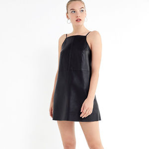 NWT Black Leather Urban Outfitters Dress